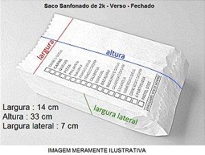 5.000 unidades de Sacos de Papel - Tamanho 2Kg - 40 g/m² Irani - Personalizados em até 2 cores em 1 Lado