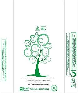 2,500 unidades - Sacolas plásticas Oxi-biodegradáveis - Brancas - LISAS - Tamanho 30x40 - Capacidade 5Kg