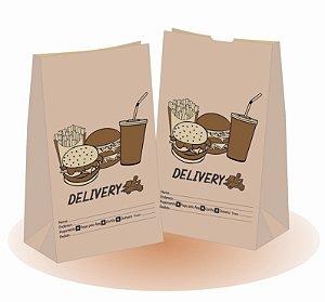 5,000 unidades Sacos Delivery 80 gramas - SOS 25  - Sem Alças - PERSONALIZADOS EM ATÉ 2 CORES