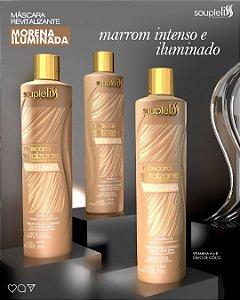 MÁSCARA REVITALIZANTE MORENA ILUMINADA - EFEITO MARROM 300ML SOUPLELISS