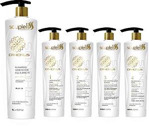 CRHONUS KIT 5 PASSOS c/ Shampoo Hidratante Equilibrium 1lt - CRONOGRAMA COMPLETO