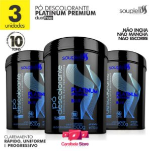 3 un PÓ DESCOLORANTE PLATINUM PREMIUM BLUE | DUST FREE 10 TONS