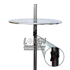 Mesa para bar molhado com regulagem em Aço Inox