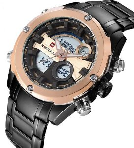 Relógio digital-analógico naviforce