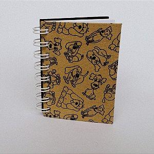 Caderno Mini Pautado Vira-Latas - 80 Folhas