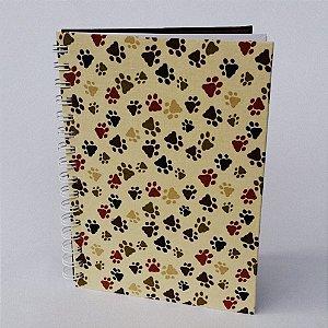 Caderno Médio Pautado Patas - 80 Folhas