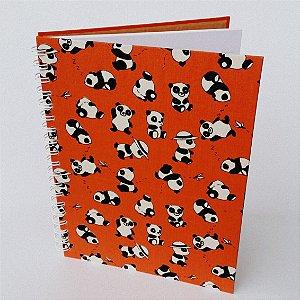 Caderno Grande Pautado Panda - 80 Folhas