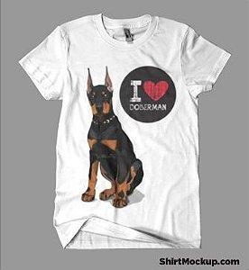 Camiseta Feminina - I Love Doberman