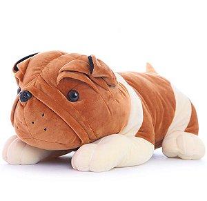 Bulldog de Pelúcia - Tamanho 25cm