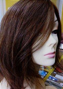 Peruca de cabelo humano 30 cm -cabelo liso cor mel cod 2yckc2khp