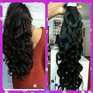cabelo ondulado 60cm indiano com 160g