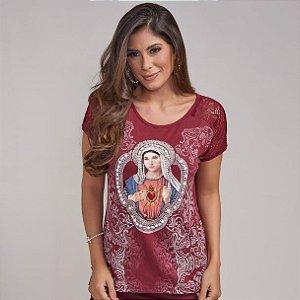 Blusa Sagrado Coração de Maria - Moda Agape - PR2932