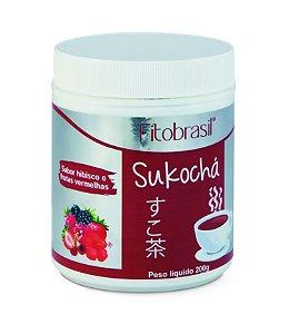 1036 Sukochá Hibisco com Gengibre Sabor Frutas Vermelhas Solúvel 200 g