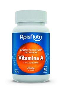 1002 Vitamina A à base de Retinol 280mg 60 Cápsulas