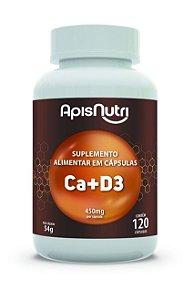1009 Cálcio + Vitamina D3 450mg 120 Cápsulas