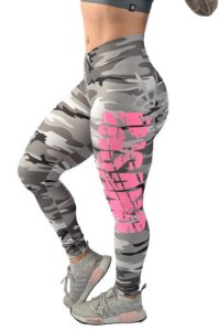 Legging Destroyer Camuflada Cinza