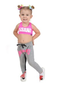 Saruel Infantil Estampa Rosa
