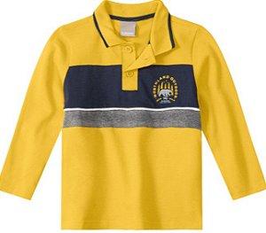 Camisa Polo Amarela - Malwee Carinhoso