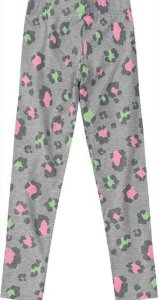 Calça Legging Infantil Oncinha Cinza Colorido - Malwee