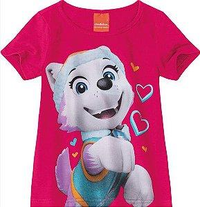 Blusa Infantil Menina Patrulha Canina Everest Rosa - Malwee