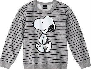 Moletom Infantil Snoopy Cinza - Malwee