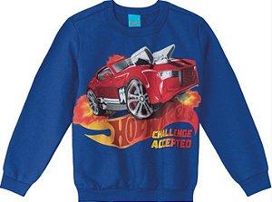 Moletom Infantil Hot Wheels  Azul - Malwee