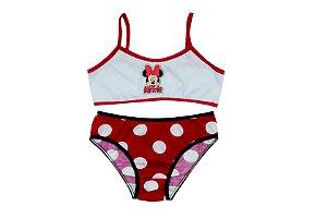 Conjunto Top e Calcinha Minnie Disney - Vermelha - Infantil