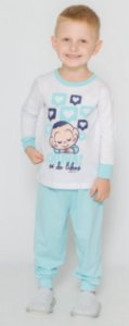 Pijama Infantil Cascão - Branco e Azul - Primeiros Passos