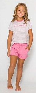 Pijama Infantil Menina Future Boss Rosa - Coleção Família