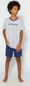 Pijama Juvenil Menino Future Boss Azul - Coleção Família