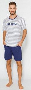 Pijama Adulto Masculino Boss Azul - Coleção Família