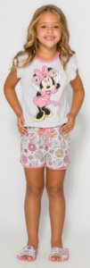 Pijama Infantil Minnie Rosa - Coleção Mãe e Filha