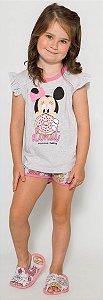 Pijama Bebê Minnie Rosa - Coleção Mãe e Filha