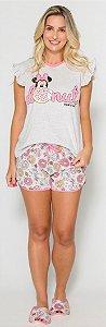 Pijama Adulto Minnie Rosa - Coleção Mãe e Filha