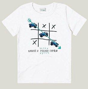 Camiseta Juvenil Menino Branca Coleção Família - Malwee