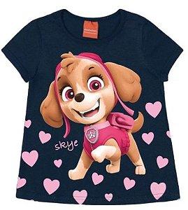 Blusa Infantil Patrulha Canina Skye Azul Marinho - Malwee
