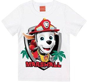 Camiseta Infantil Patrulha Canina Marshall Branca - Malwee