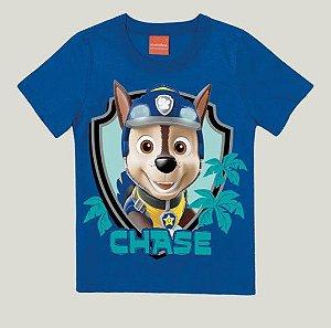 Camiseta Infantil Patrulha Canina Chase Azul - Malwee