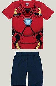 Conjunto Infantil com Máscara do Homem de Ferro Vermelho - Malwee