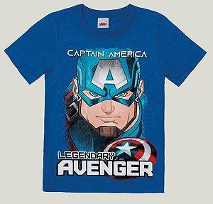 Camiseta Infantil Capitão América Azul - Malwee