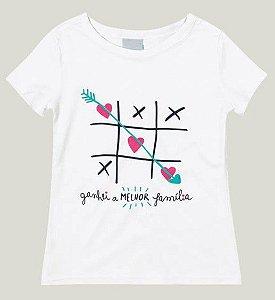 Blusa Infantil Menina Branca Coleção Família - Malwee