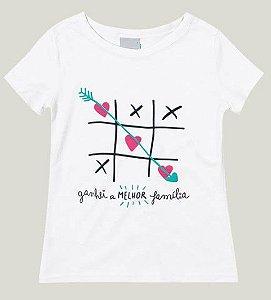 Blusa Juvenil Menina Branca Coleção Família - Malwee