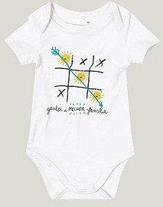 Body Bebê Branco Coleção Família - Malwee