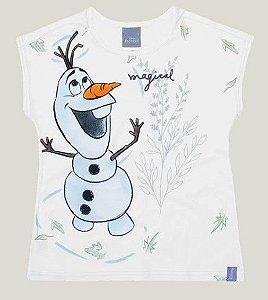 Blusa Infantil Frozen Olaf Branca - Malwee