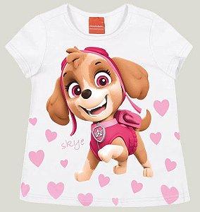Blusa Infantil Patrulha Canina Skye Branca - Malwee