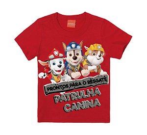 Camiseta Infantil Patrulha Canina Vermelha - Malwee