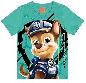 Camiseta Infantil Patrulha Canina Chase Verde - Malwee