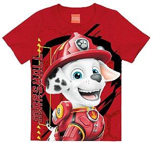 Camiseta Infantil Patrulha Canina Marshall Vermelho - Malwee