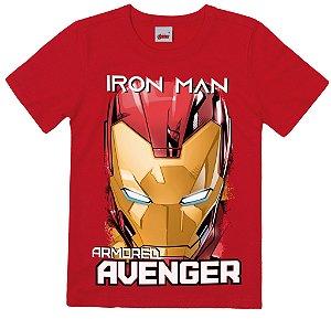 Camiseta Infantil Menino Homem de Ferro Vermelha - Malwee