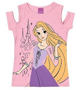 Blusa Infantil Menina Princesa Rapunzel Rosa - Malwee